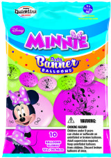 Minnie Mouse Latex Banner Balloons